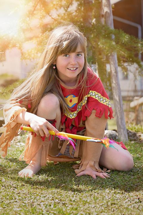 Child, Girl, Blond, Long Hair, Human, Indians, Indian