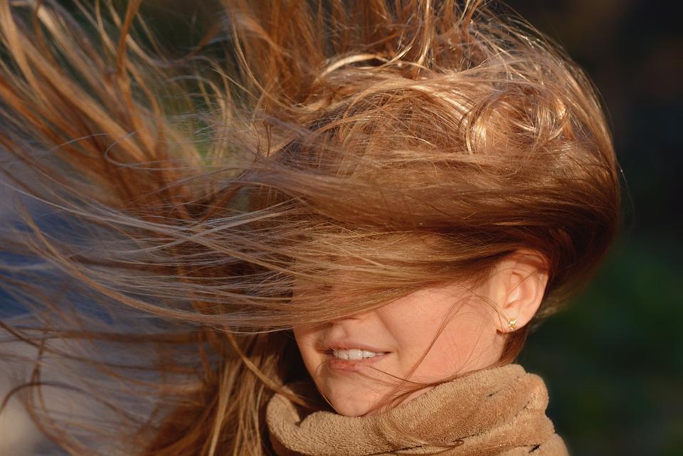 Person, Human, Female, Girl, Hair, Hair Flying, Wind