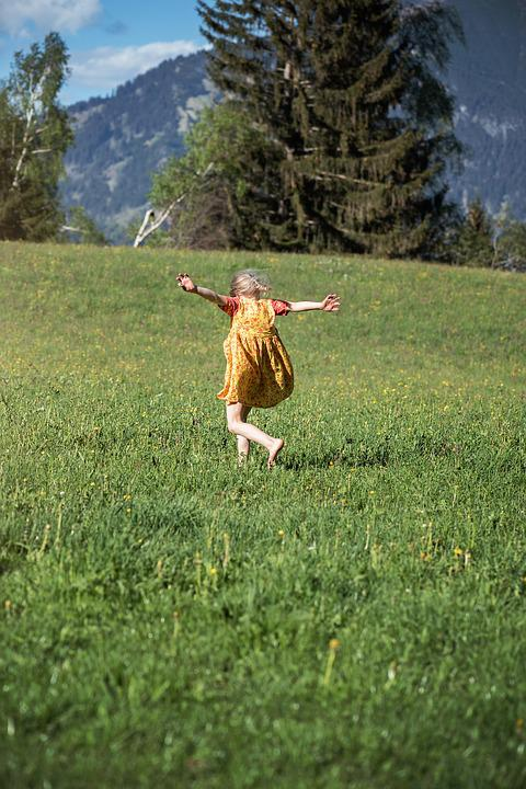 Human, Person, Child, Girl, Nature, Meadow, Landscape