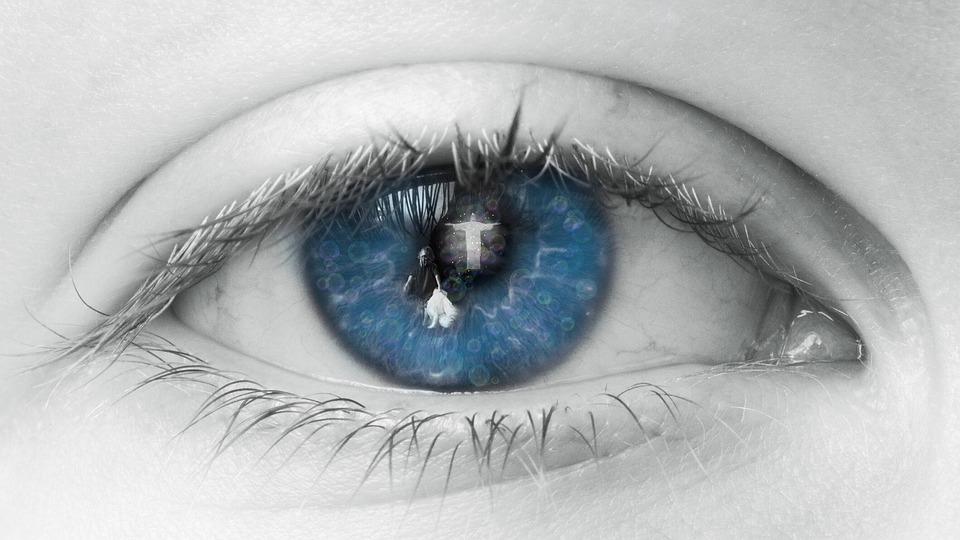 Eye, Blue, Human, View, Eyelashes, Lid, Mirror, Soul