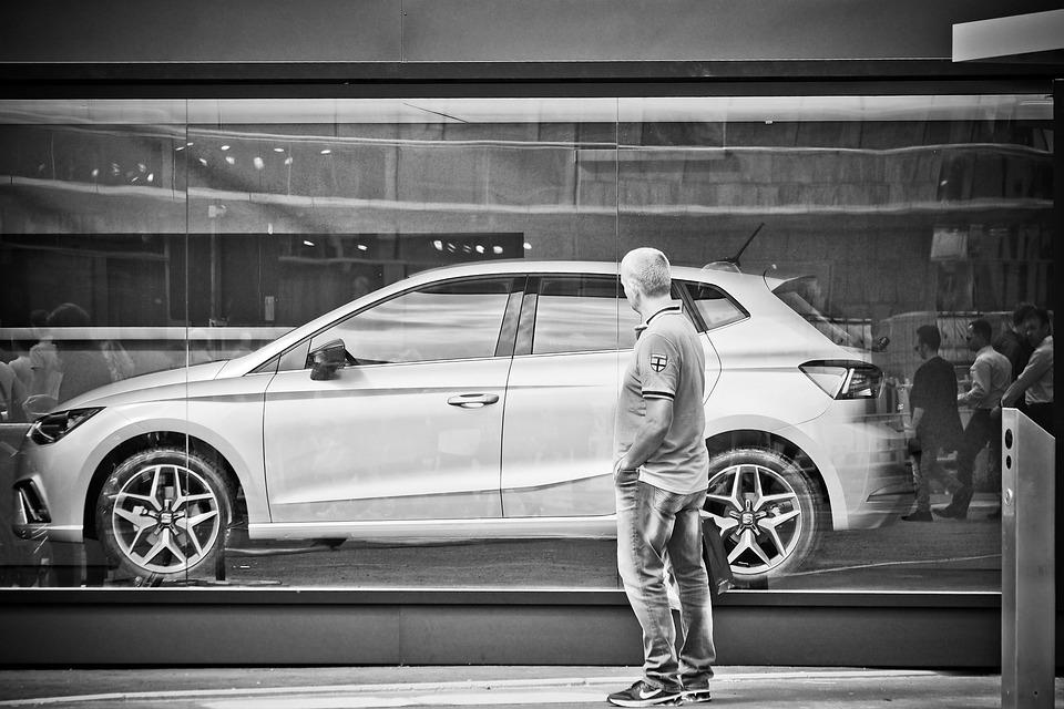 Auto, Man, Person, Advertising, Human, Vehicle, Scene