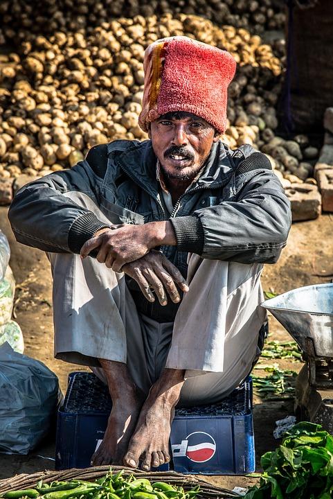 Indians, Portrait, Man, Human, Head, Face, Market