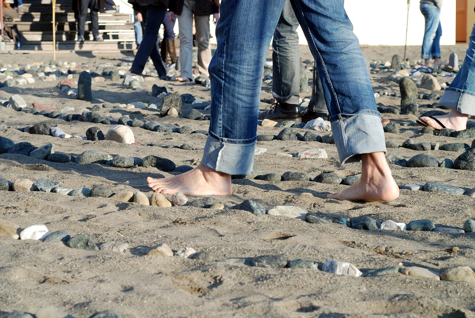 Foot, Beach, Ocean, Sand, Silhouette, Human, Nature