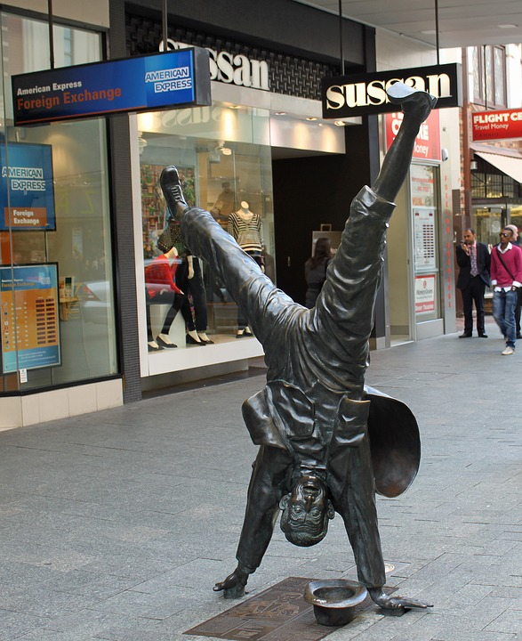 Sculpture, Perth, West Australia, Human, Handstand