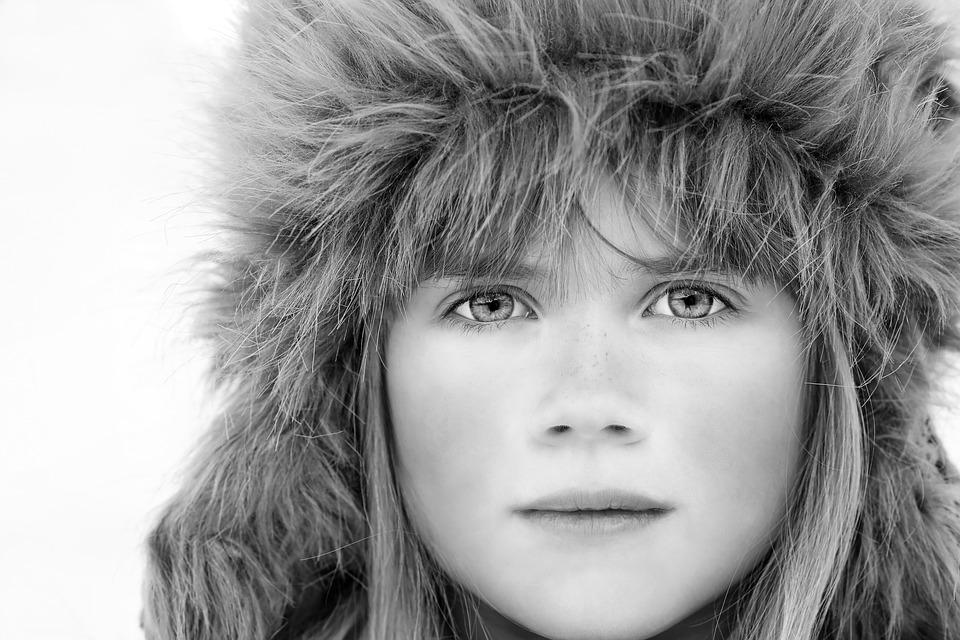 Person, Human, Female, Girl, Face, Portrait, Winter