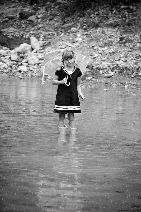 Person, Human, Child, Girl, Water, Rubber Boots, Screen