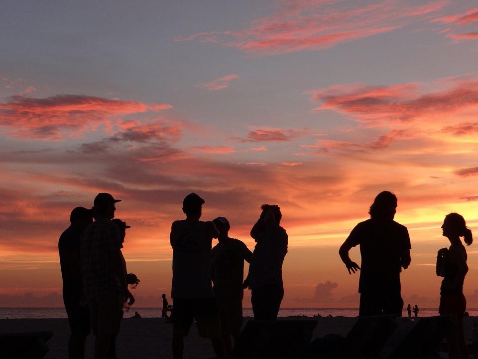 Sunset, St Petersburg, Florida, Human, Silhouette