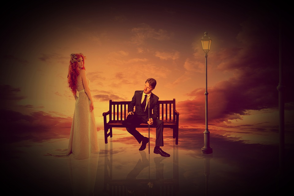 Woman, Man, Human, Park Bench, Wait, Sit, Romance