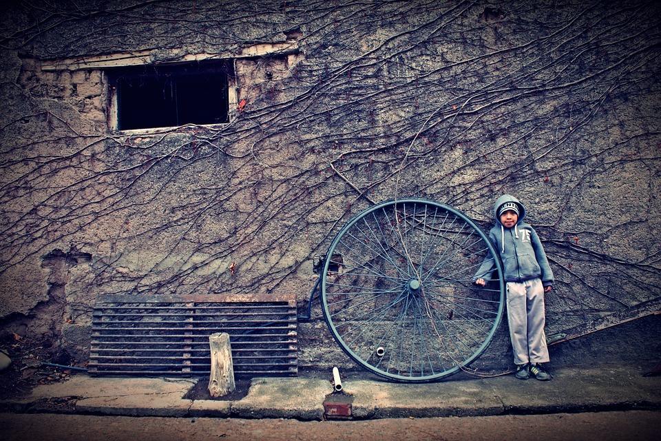 Child, Wheel, Humble, Poor