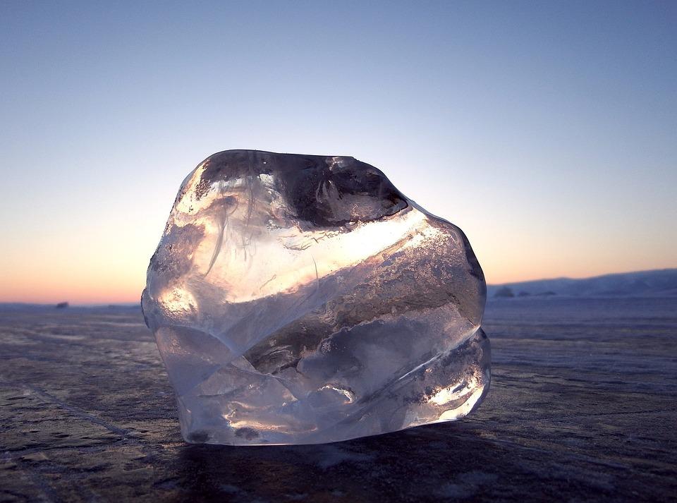 Baikal, Lake, Ice, Winter, Hummocks, Shadow, Rocks