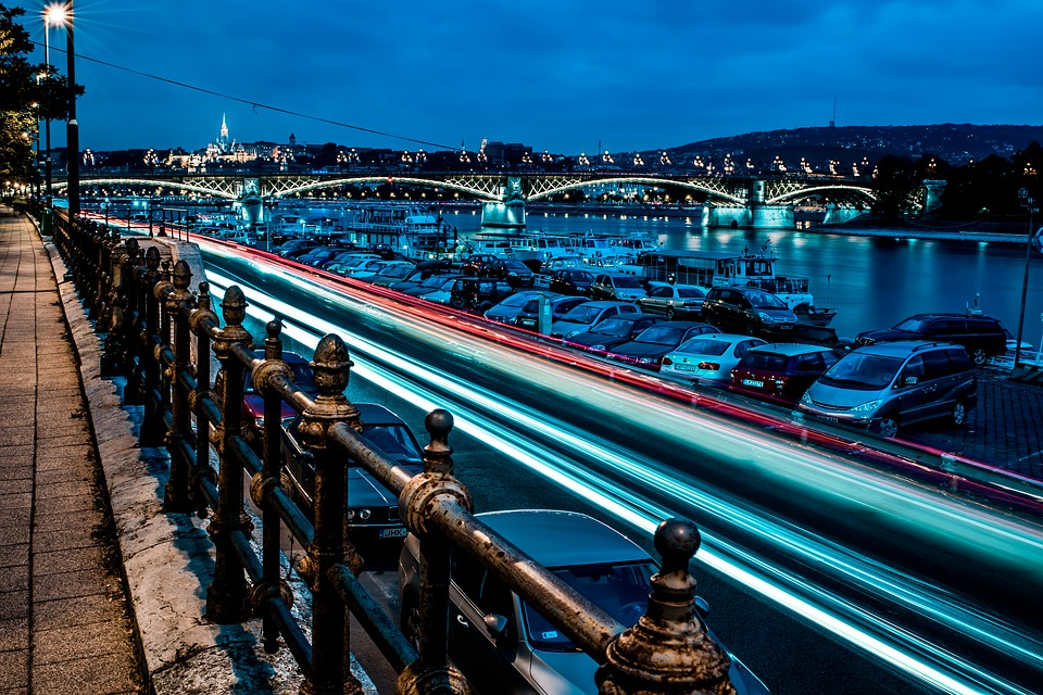 Long Exposure, At Night, Budapest, Hungary, River