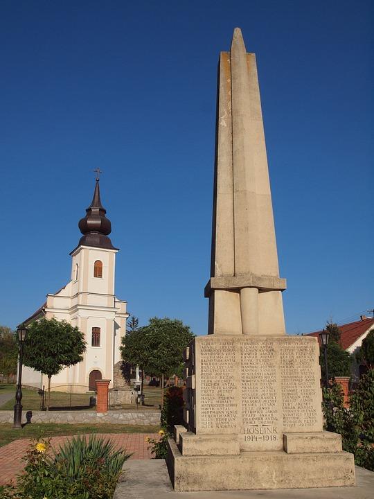 Hungary, Baranya, Beremend, Church, Catholic, Monument
