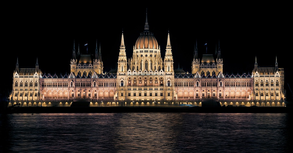 Hungarian Parliament, Night, Budapest, Hungary