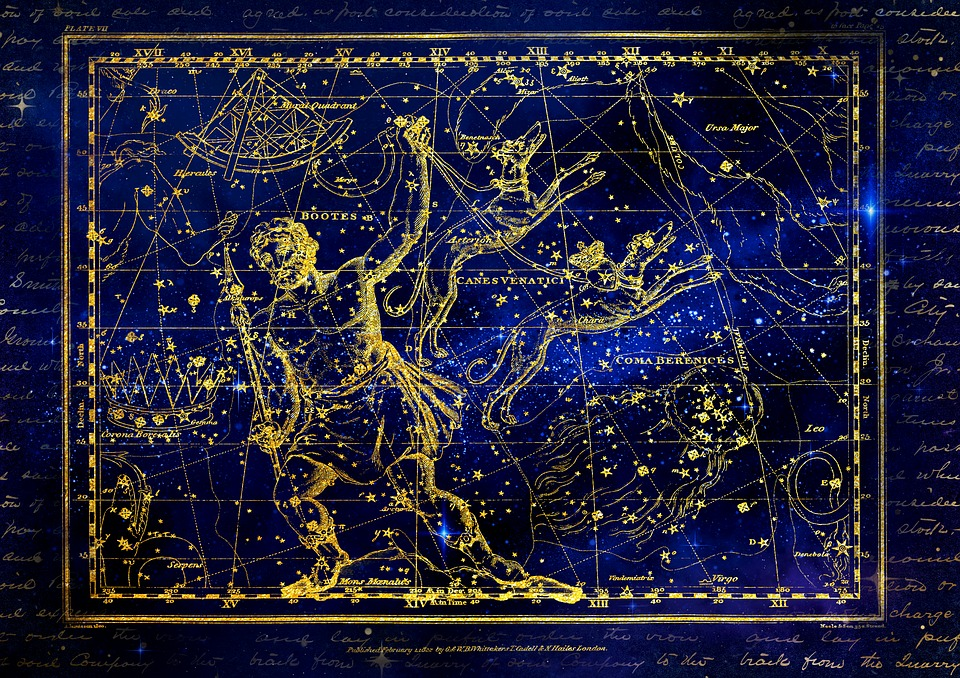 Constellation, Bootes, Bear Guardian, Hunting Dog