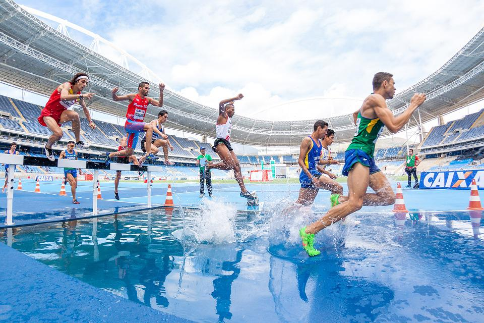 Action, Athletes, Competition, Hurdle, Men, People