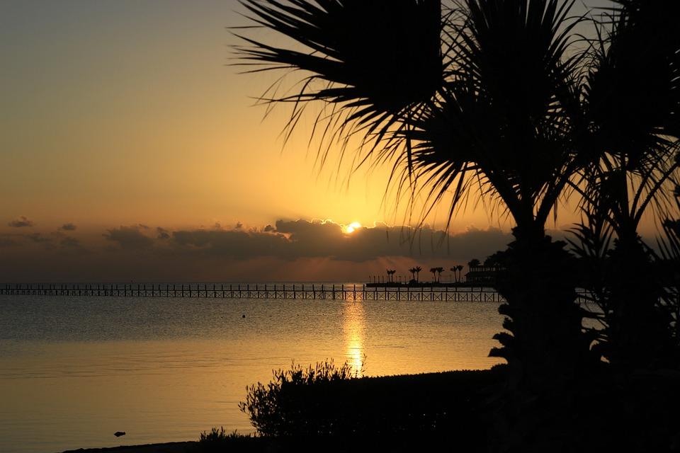 Egypt, Hurghada, Red Sea, Sun, Sunrise