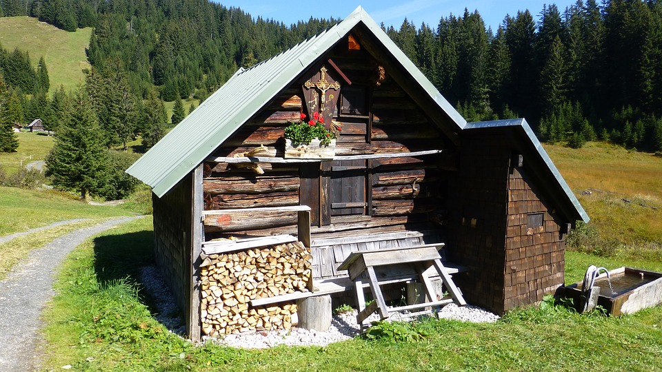 Allgäu, Alpe, Hut, Refuge, Mountain Hut
