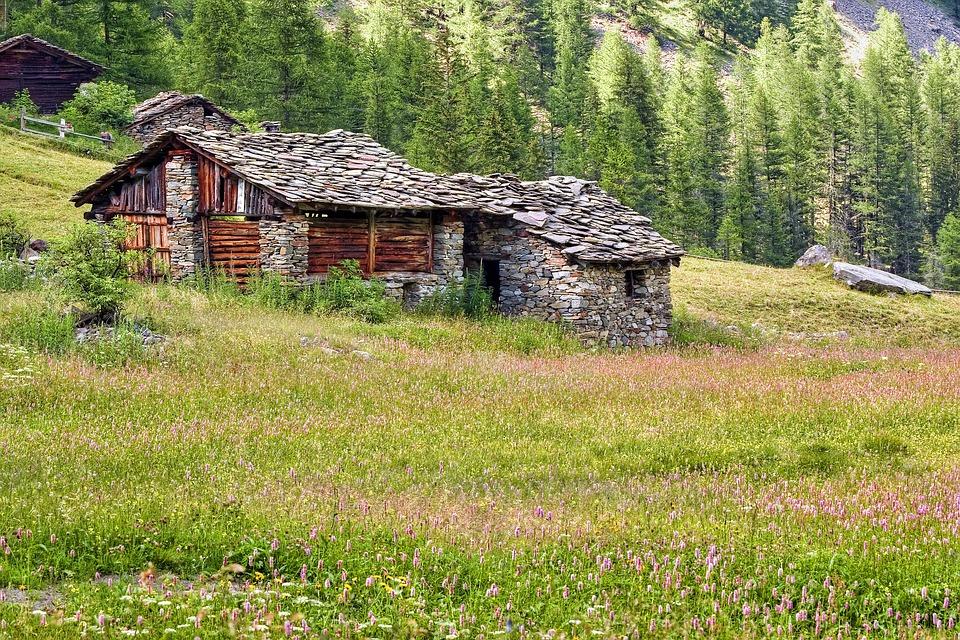 Mountain, Huts, Alp, Lee, Ancient Accommodation, Prato