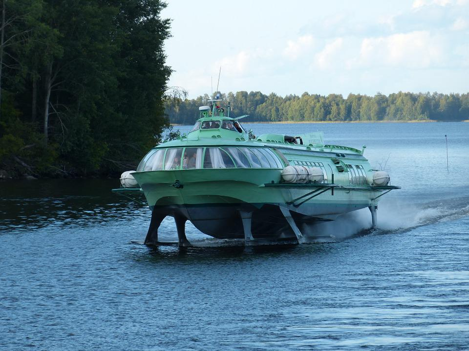 Lake Ladoga, Hydrofoil, Powerboat, Ship, Russia, Lake