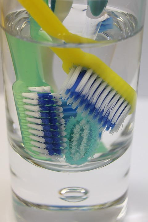 Toothbrush, Glass, Water, Dental, Clear, Clean, Hygiene