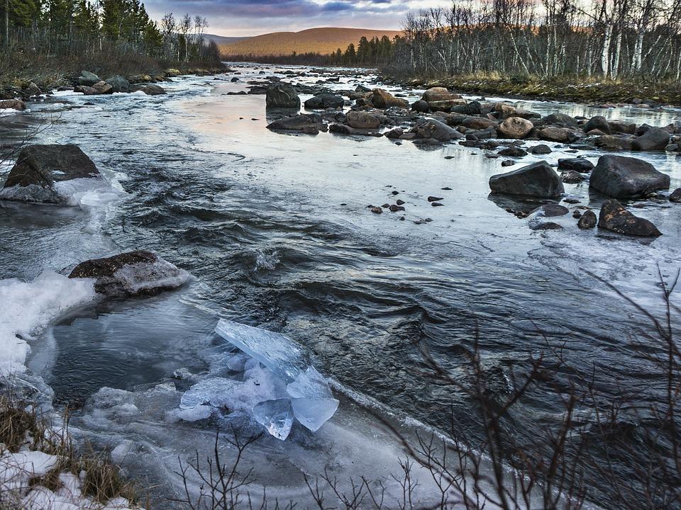 I Smell, River, Cold, Frozen River, Sweden, Frozen