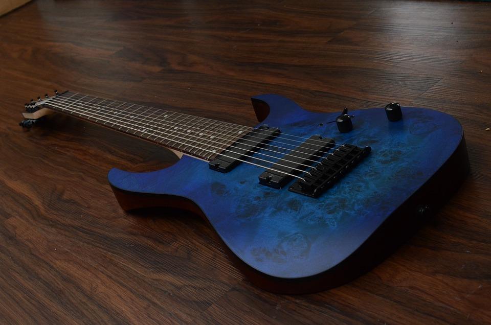 free photo ibanez rg8pb blue djent guitar max pixel