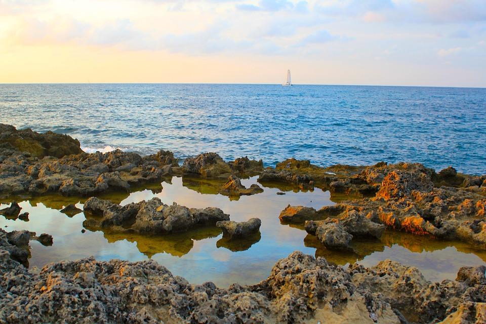 Ibiza, Sant Antoni Bay, Sailing, Boat, Sea, Ocean, Sky