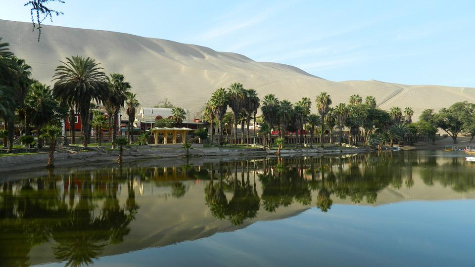 Oasis Of Huacachina, Ica - Peru, Water Mirror