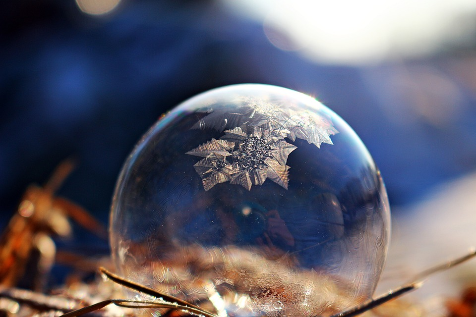Soap Bubble, Frozen Bubble, Winter, Ice Crystal