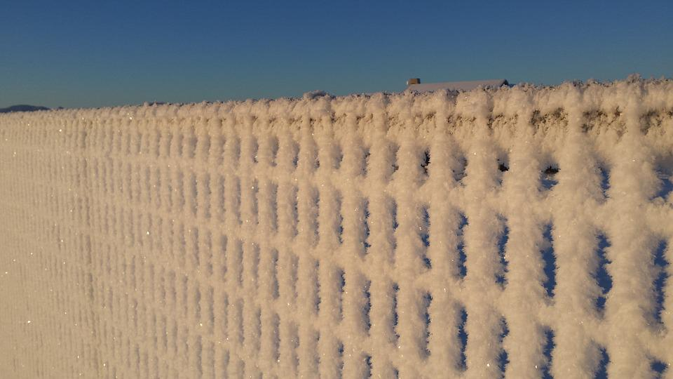 Snow, Fence, Winter, Ice, Weather, Outdoors