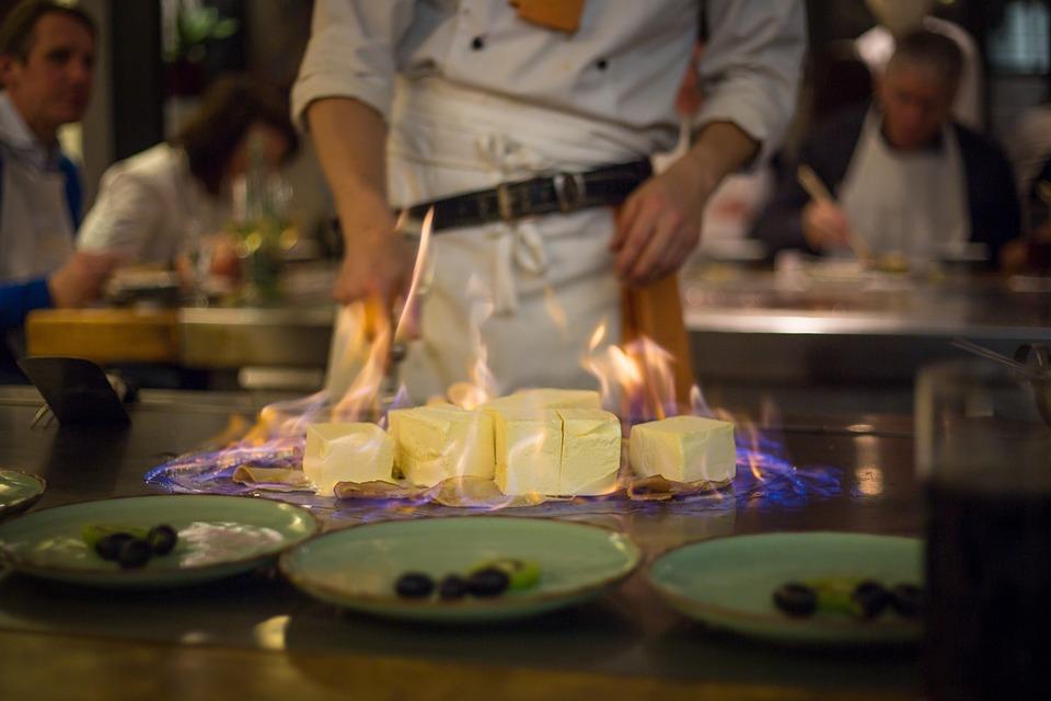 Flambéed, Ice, Japanese, Eat, Dessert, Fire