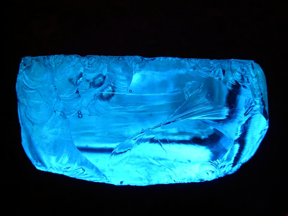Stone, Glass, Colorful, Gem, Color, Blue, Ice, Cold