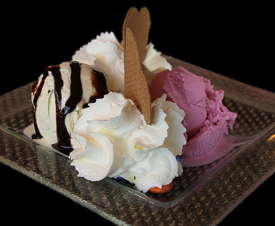 Ice, Ice Cream Sundae, Waffle, Dessert, Ice Cream