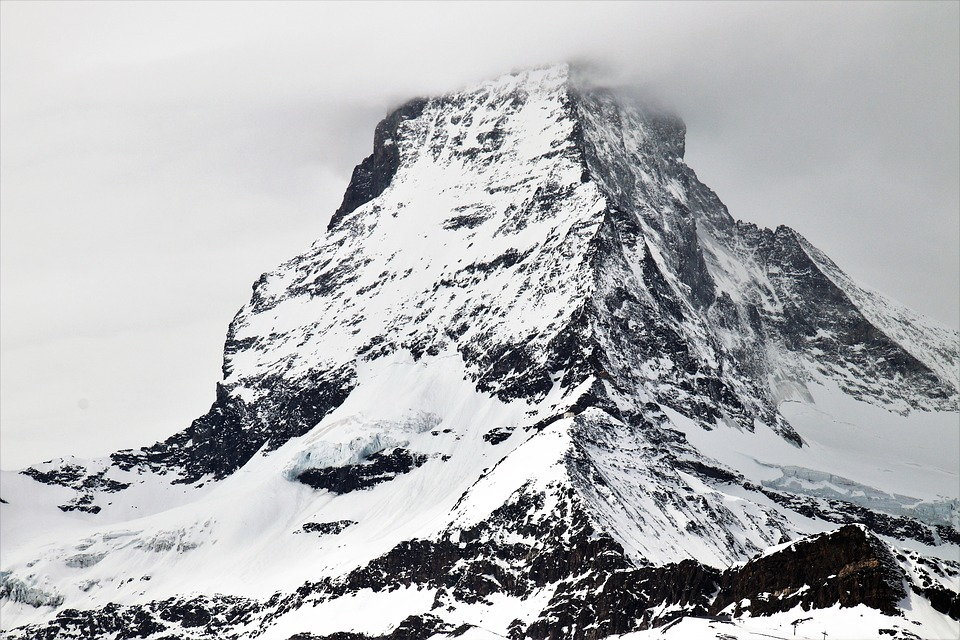 The Alps, Matterhorn, Snow, Mountain, Ice, Winter
