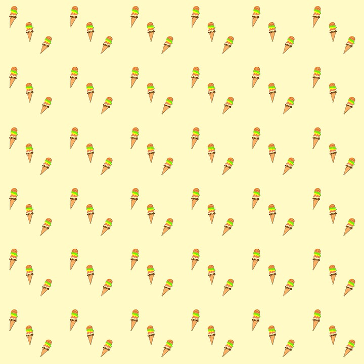 Pattern, Ice, Background, Ice Pattern, Ice Cream Cones