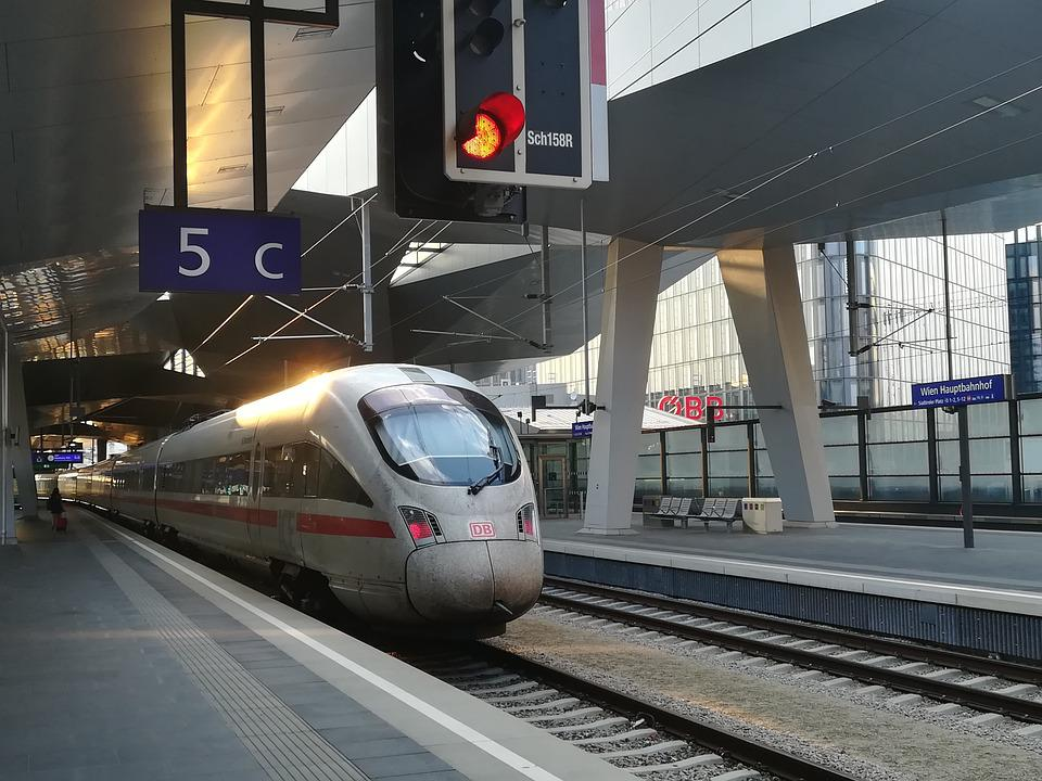 Ice, Train, Central Station, Railway, Transport System