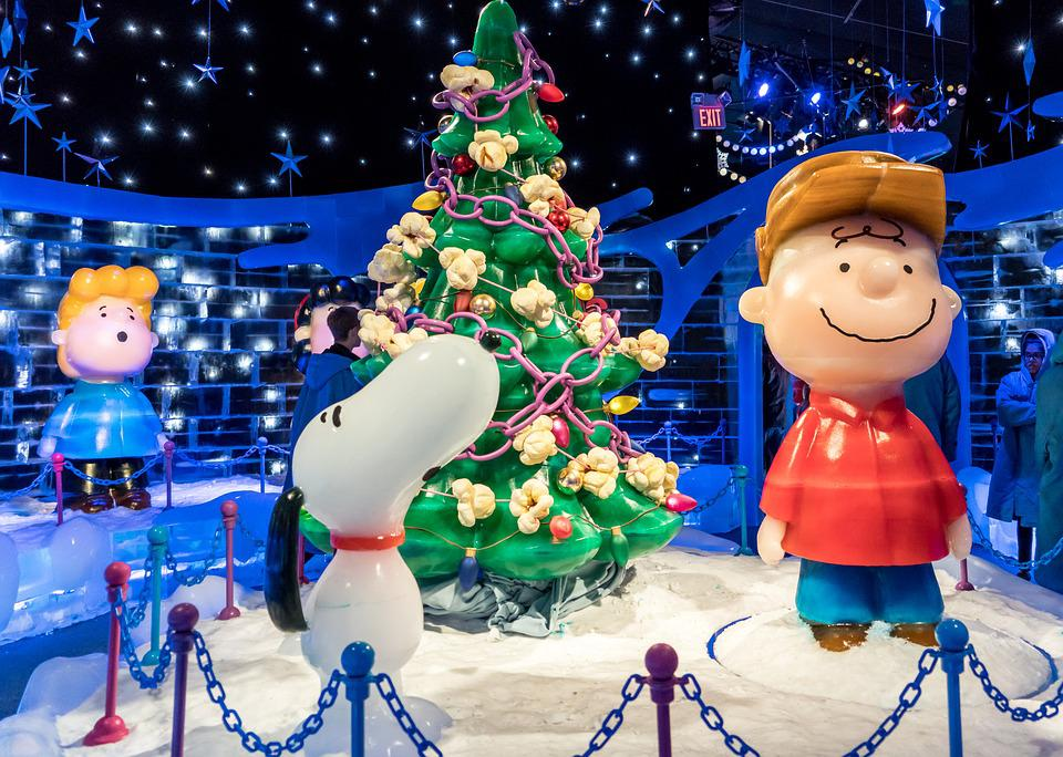 ice sculpture charlie brown christmas tree cute