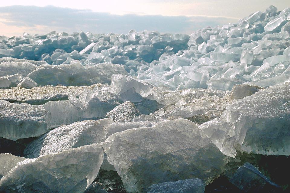 Ice, Ice Floes, Shelf Ice, Ice Blocks, Winter, Cold
