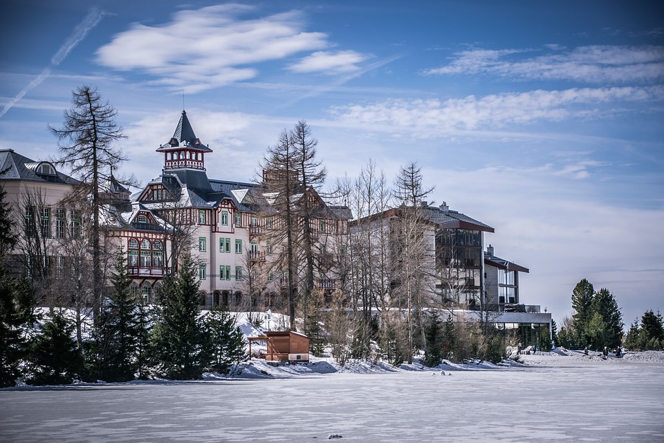 Architecture, Winter, Ice, Snow