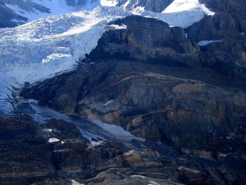 Athabasca Glacier, Rocky Mountains, Canada, Ice, Snow