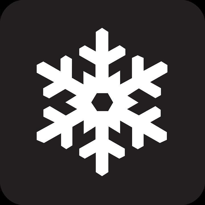 Snowflake, Plate, Crystal, Snow, Cold, Ice, Black