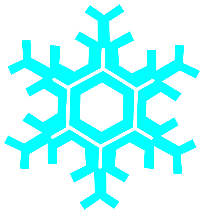 Snowflake, Snow, Winter, Cold, Ice, Frozen, Turquoise