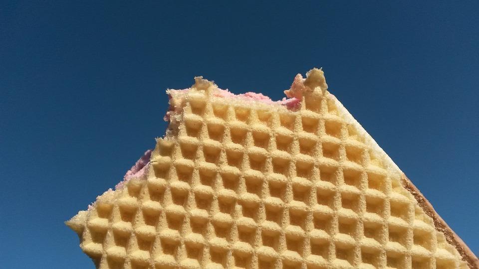 Icecream, Waffle, Sweet, Dessert, Ice, Delicious