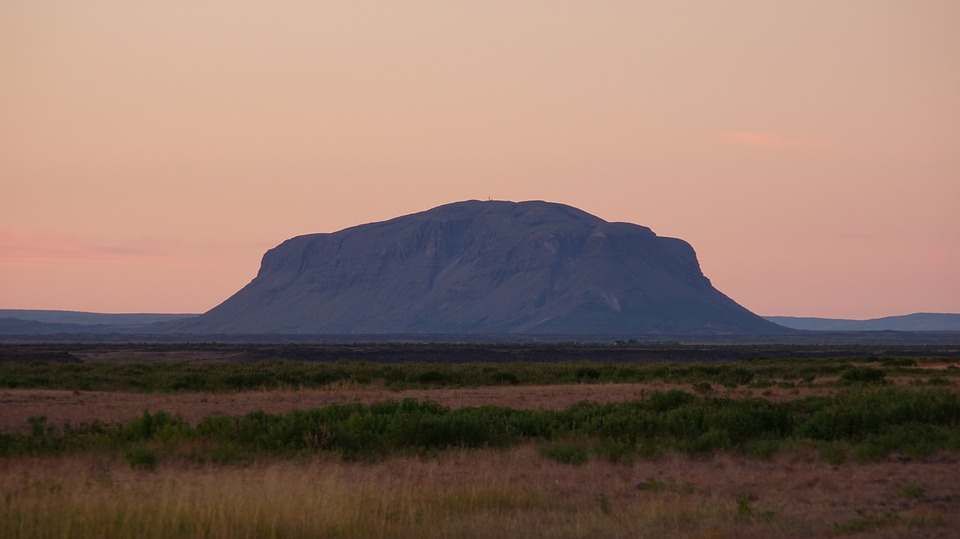 Burfell, Iceland, Midnight Sun