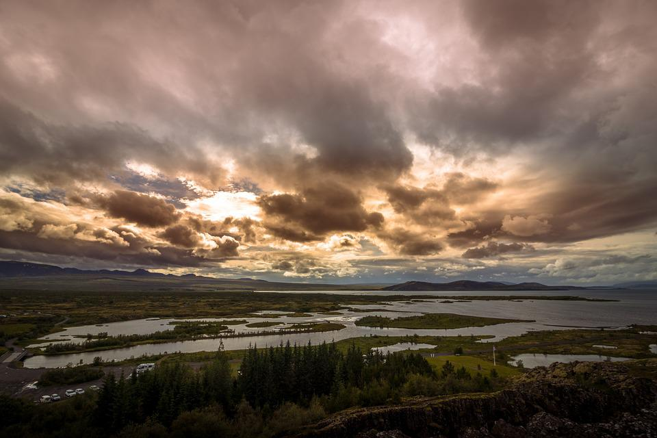 Iceland, Sky, Landscape, Clouds, Nature, Mountains