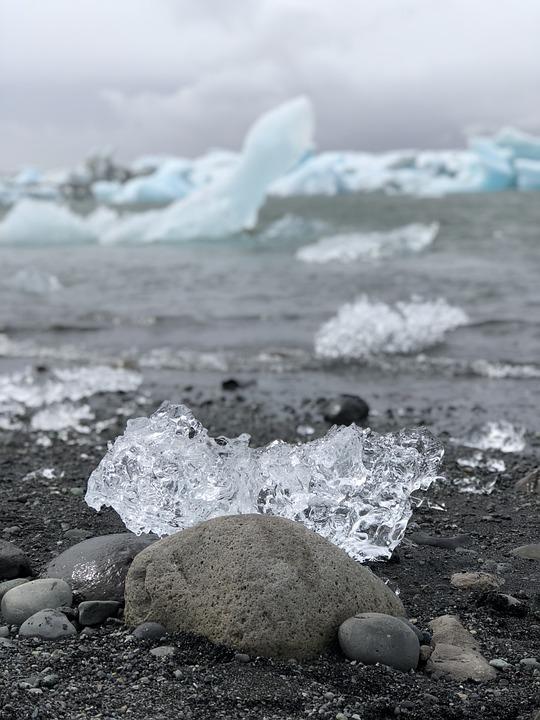 Iceland, Rocks, Ice, Iceberg, Jokulsarlon