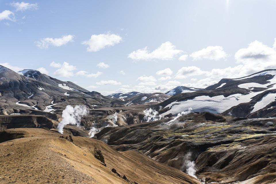 Iceland, Highlands, Landscape, Mountains