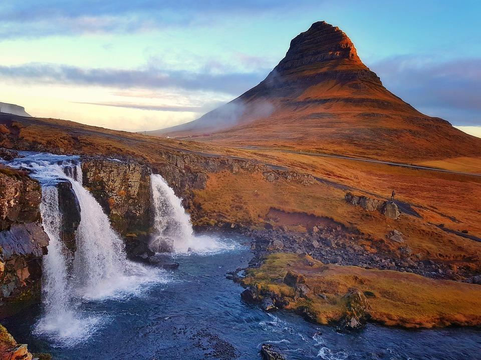 Kirkjufell, Mountain, Iceland, Waterfall, Landscape