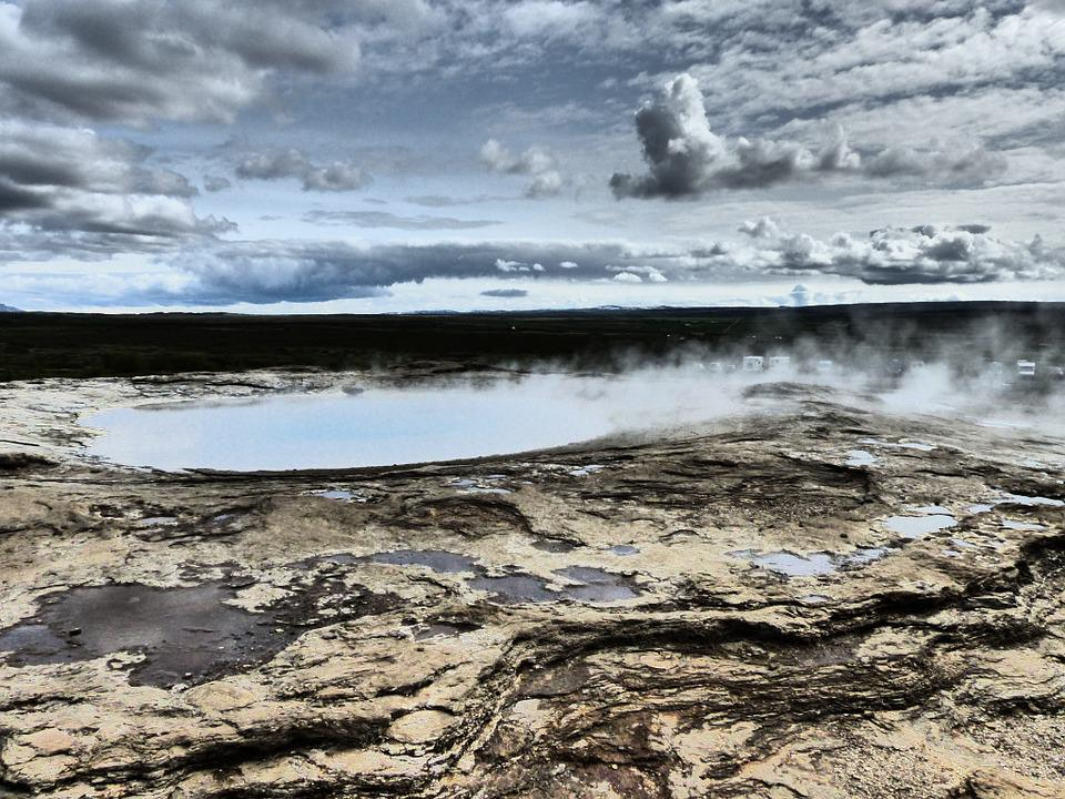Iceland, Geyser, Nature, Landscape