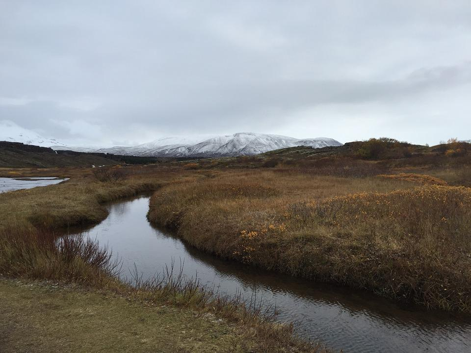 Iceland, The Nature Of The, Mountain, Snow, Autumn